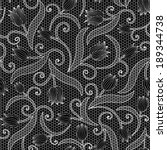 white lace seamless pattern... | Shutterstock .eps vector #189344738