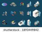 semiconductor chip production... | Shutterstock .eps vector #1893449842