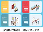art gallery web banners with... | Shutterstock .eps vector #1893450145
