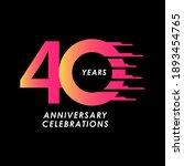 40 years anniversary... | Shutterstock .eps vector #1893454765