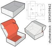 box self assembly flute type e  ...   Shutterstock .eps vector #1893459862