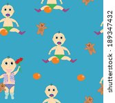 seamless pattern boy baby | Shutterstock .eps vector #189347432