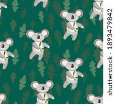 seamless pattern with cute... | Shutterstock .eps vector #1893479842