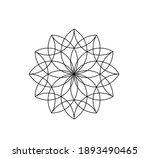 vector isolated simple flower... | Shutterstock .eps vector #1893490465