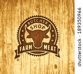 advertising,animal,badge,beef,butcher,butchery,cleaver,cow,design,element,emblem,farm,fire,food,fresh