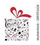 music concept vector of gift... | Shutterstock .eps vector #189351626