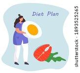 nutrition diet plan....   Shutterstock .eps vector #1893525265