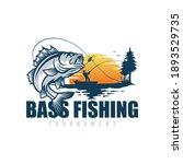 fishing logo design template...