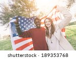 multiracial couple holding... | Shutterstock . vector #189353768