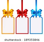 white tags isolated on white... | Shutterstock .eps vector #189353846