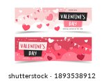 valentine's day banners with... | Shutterstock .eps vector #1893538912
