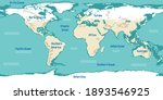 world map with continents names ... | Shutterstock .eps vector #1893546925