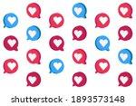 heart in speech bubble icon.... | Shutterstock .eps vector #1893573148
