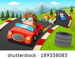 a vector illustration of happy... | Shutterstock .eps vector #189358085