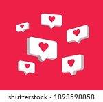 heart in speech bubble icon.... | Shutterstock .eps vector #1893598858