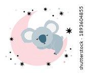 Cute Koala Bear Sleeping On The ...