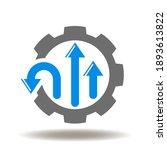 cog wheel arrows different... | Shutterstock .eps vector #1893613822