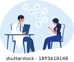 woman patient consulting with...   Shutterstock .eps vector #1893618148