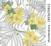 floral seamless pattern  oxalis ... | Shutterstock .eps vector #1893629815