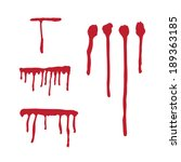 Set Of Different Blood Drops....