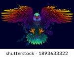 flying bald eagle. color ... | Shutterstock .eps vector #1893633322