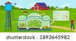 greenhouse modern agriculture...   Shutterstock .eps vector #1893645982