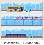 city transport vector... | Shutterstock .eps vector #1893647368