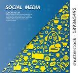 social media concept vector... | Shutterstock .eps vector #189365492
