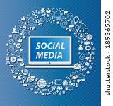 social media concept vector... | Shutterstock .eps vector #189365702