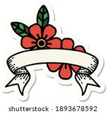 tattoo style sticker with... | Shutterstock .eps vector #1893678592