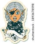 retro tattoo style elf rogue... | Shutterstock .eps vector #1893678598