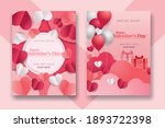 valentine's day concept posters ... | Shutterstock .eps vector #1893722398