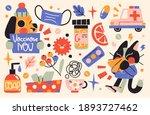 virus  illness or flu concept.... | Shutterstock .eps vector #1893727462