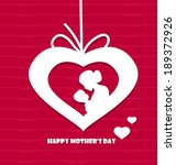 happy mothers day | Shutterstock .eps vector #189372926