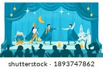halloween theatrical kids... | Shutterstock .eps vector #1893747862