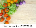 mixed vegetable on wooden plate | Shutterstock . vector #189375212