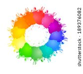 vector color wheel with color