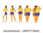body mass index. girls of... | Shutterstock .eps vector #1893773662