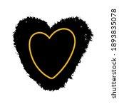 gold heart outline on a black... | Shutterstock .eps vector #1893835078