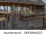 Rustic Wooden Old Barn....