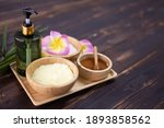 top view of spa treatment set... | Shutterstock . vector #1893858562