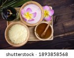top view of spa treatment set... | Shutterstock . vector #1893858568