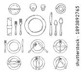 table settings isolated on a...   Shutterstock .eps vector #1893892765