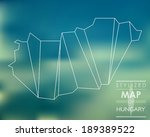 map of hungary. stylized map...