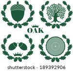 oak tree. oak logo  | Shutterstock .eps vector #189392906