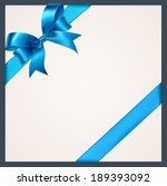 blue gift bows with ribbons.... | Shutterstock .eps vector #189393092