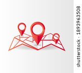 3d pin pointer with map design... | Shutterstock .eps vector #1893963508