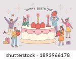 birthday party post card.... | Shutterstock .eps vector #1893966178