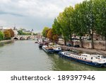 River Seine In Paris On A...