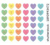 sweet heart candy. conversation ... | Shutterstock .eps vector #1893993472